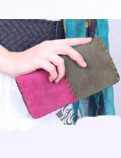 کیف پول زنانه طرح مثلث مدل چرم دست دوز