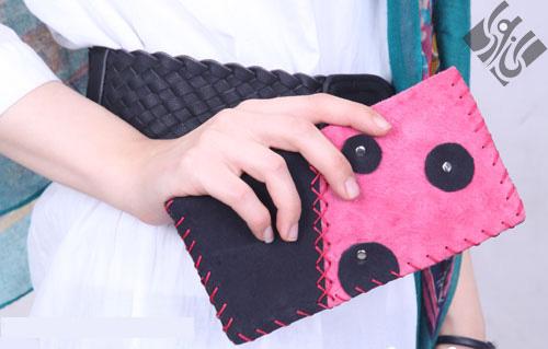 کیف پول زنانه پانچی مدل چرم دست دوز